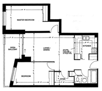 Two-bedroom layout