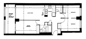 Three-bedroom layout