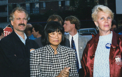 The late Jack Layton and Olivia Chow at ground breaking and Labour Council Development Foundation representative